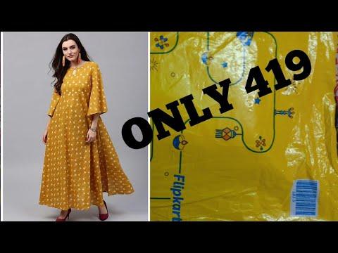 f3a1dd84a03 #Flipkart long dress review||Flipkart maxi dress||dress online shoping