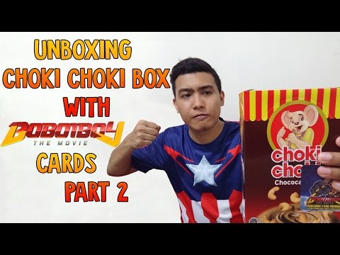 EXTRA PACKET! LUCKY OR NOT?! Unboxing Choki Choki Box With Boboiboy The Movie Cards Part 2