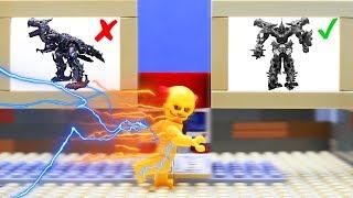 LEGO experemental Cars Episode 2! Transformers truck Long Haul, Grimlock!