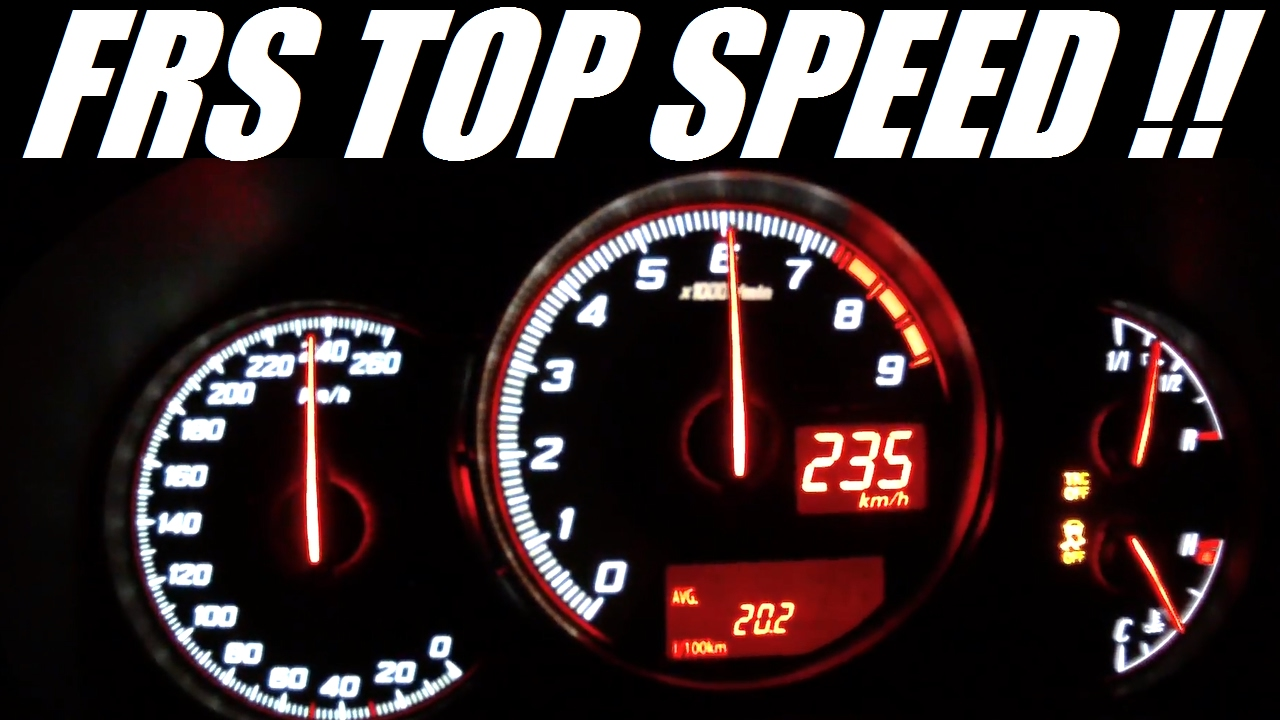 Toyota GT86 (Scion FRS) 0-235 Kph Acceleration Top Speed - YouTube