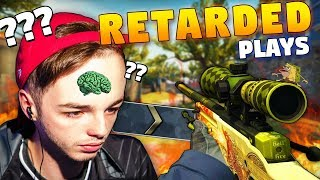CS:GO - When PROS play like IDIOTS! 0 IQ PLAYS!! ft. Stewie2k, tarik, NiKo & More!