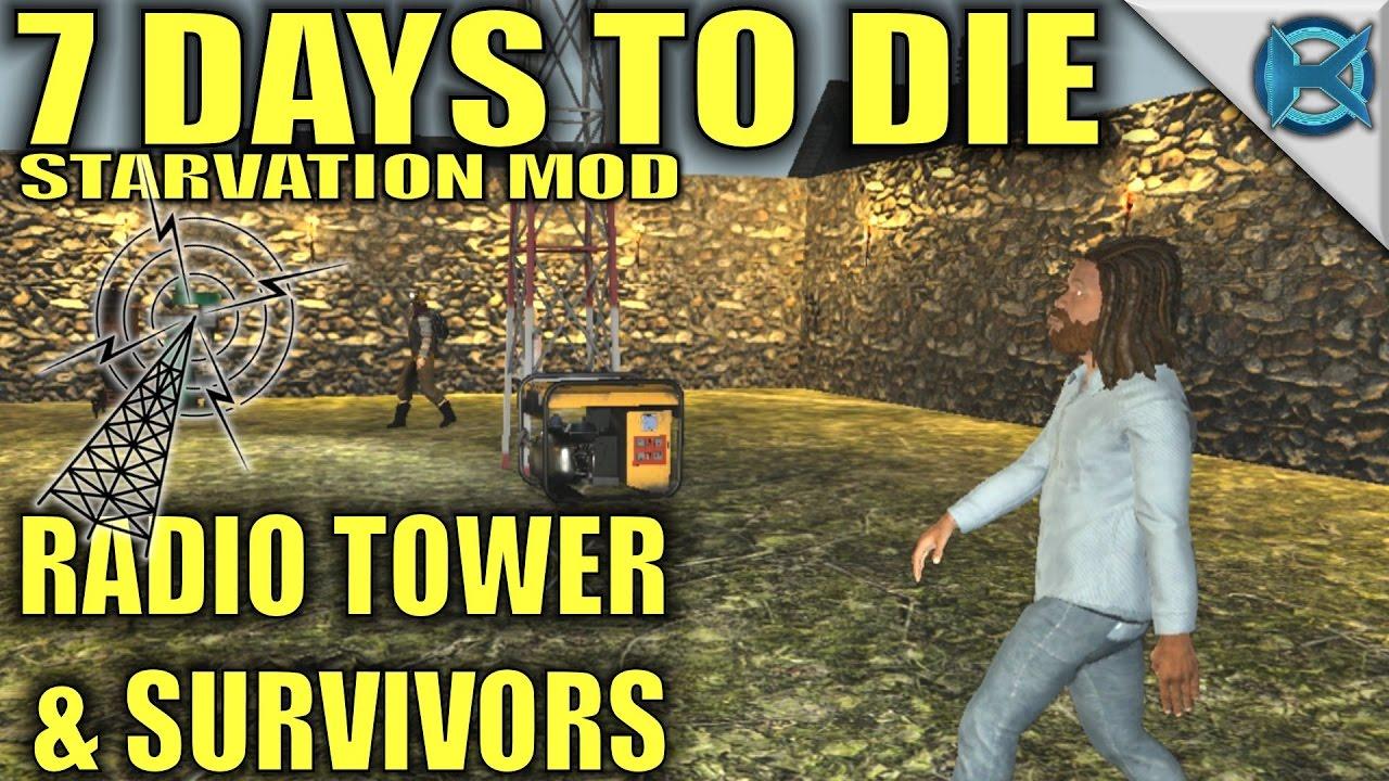 7 Days to Die Modded | Radio Tower & Survivors | MP Let's ...