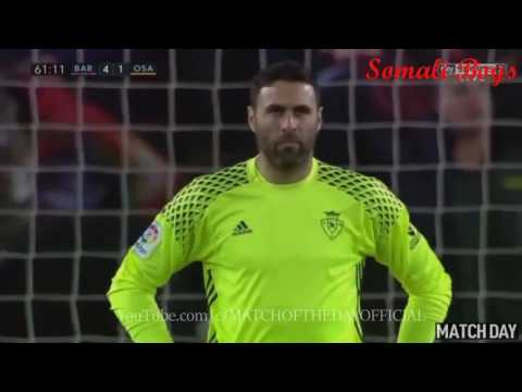 Barcelona vs osasuna 7-0 All goals (26/4/2017)