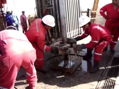 Core Sample Extraction from Oil Well