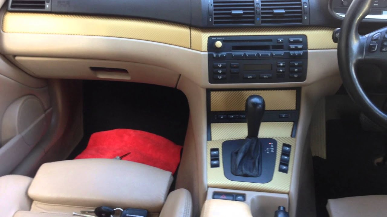 bmw 318 convertible gold carbon wrap interior youtube. Black Bedroom Furniture Sets. Home Design Ideas
