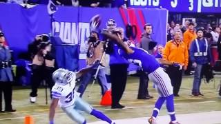 Odell Beckham one-handed catch (Cowboys vs Giants)