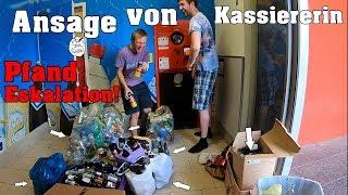 ANSAGE von KASSIERERIN wegen viel zu viel Pfand? | Ergebnis nach 2 Tagen sammeln | PfandSucht