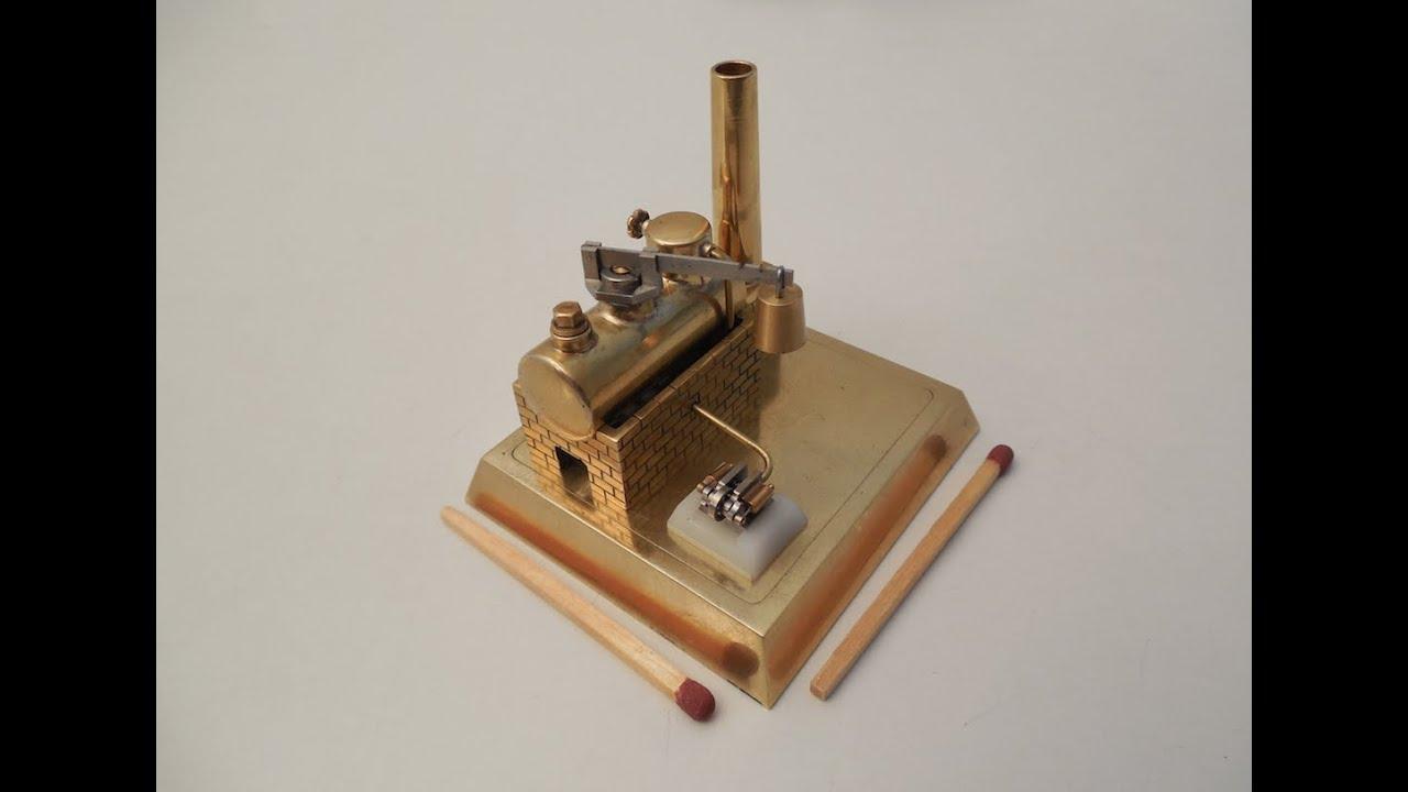 Mini-Dampfkessel mit super kleiner Minidampfmaschine 0,55 gramm ...