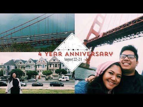 4 YEAR ANNIVERSARY VLOG! San Francisco, CA
