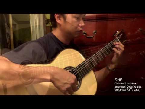 She - C. Aznavour (arr. Jose Valdez) Solo Classical Guitar
