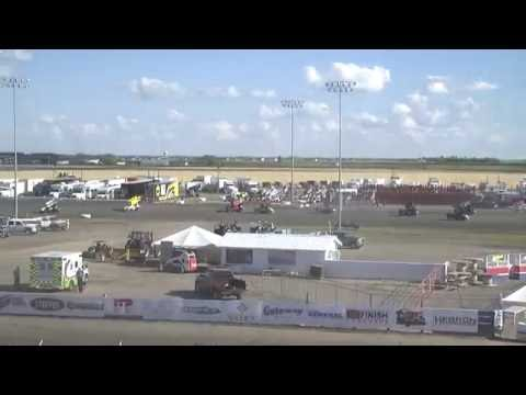 Red River Valley Speedway 07/17/2016 - NOSA Sprints   Heat 1