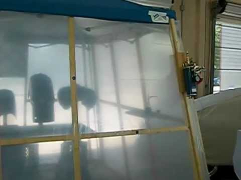 Pop Up Paint Booth >> Portable Garage Paint Booth Youtube