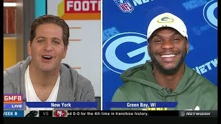 Packers WR Marquez Valdes-Scantling on Aaron Rodgers, game vs Raiders