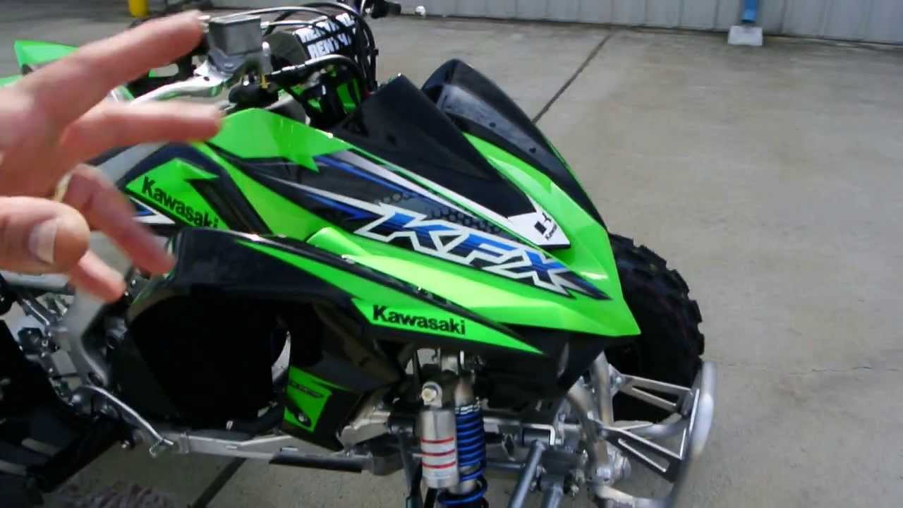 2014 kawasaki kfx450r sport quad overview and review for sale 8 299 youtube. Black Bedroom Furniture Sets. Home Design Ideas