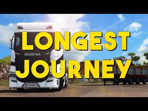 Euro Truck Simulator 2 Longest Journey Timelapse | Aberdeen-Catania (Italia DLC)