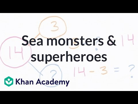Sea Monsters And Superheroes | Addition And Subtraction Within 20 | Early Math | Khan Academy