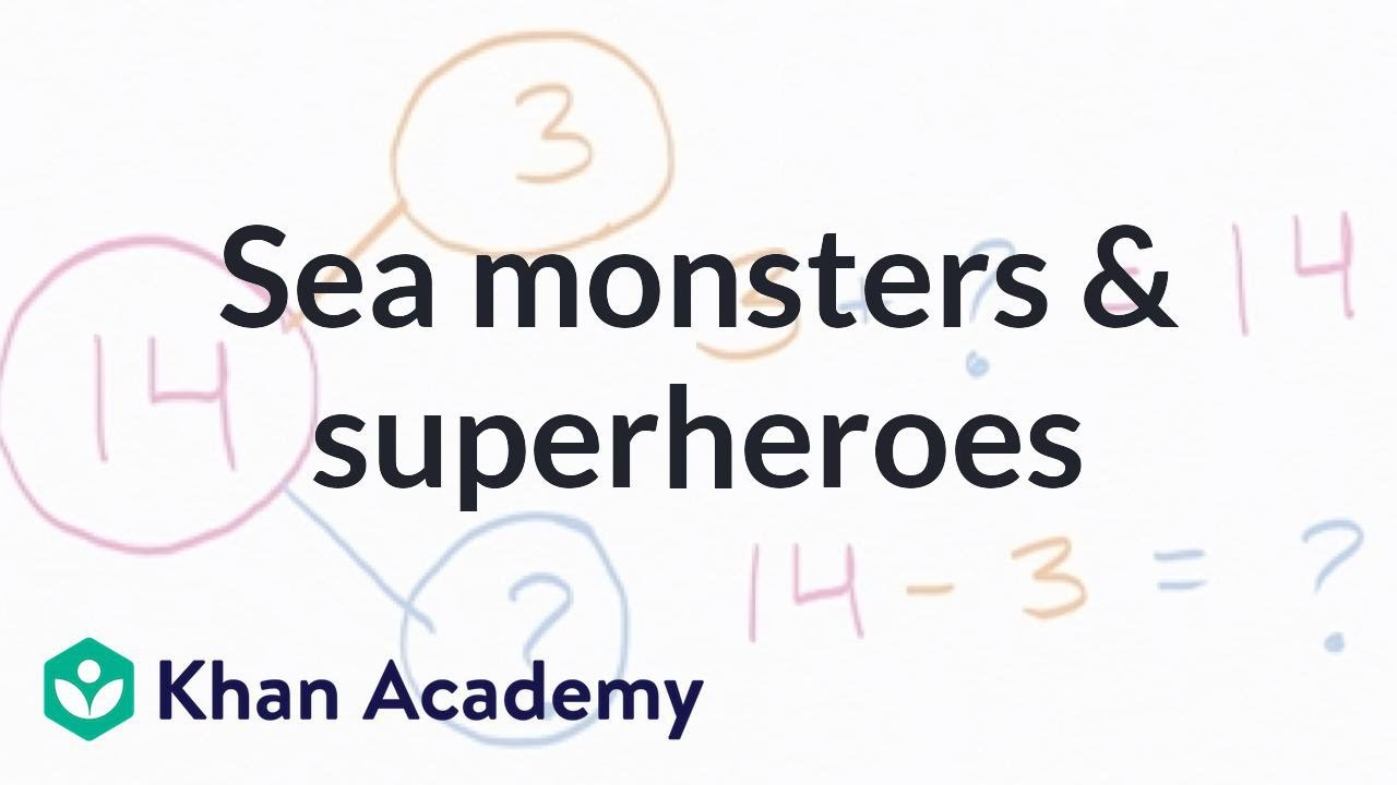 Worksheet Khan Academy Subtraction addition and subtraction word problems superheroes video khan academy