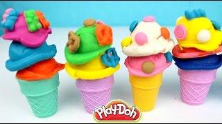 Helados de Plastilina | Play Doh Scoops N Treats Ice Cream Cones| Mundo de Juguetes