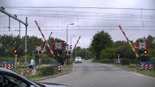 Spoorwegovergang Lisse // Dutch railroad crossing