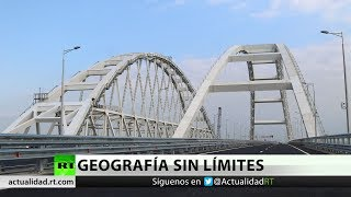 Putin inaugura el puente de Crimea seis meses antes de lo previsto