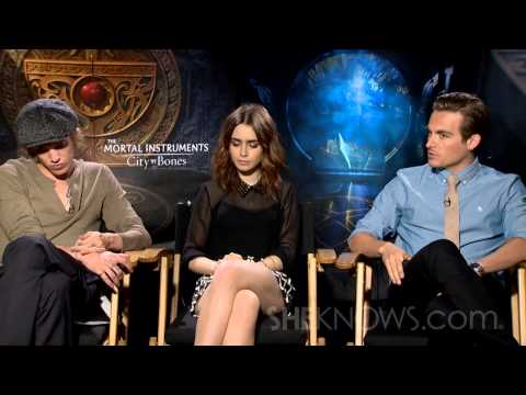 Lily Collins, Jamie Campbell Bower, & Kevin Zegers Talk The Mortal Instruments - Celebrity Interview
