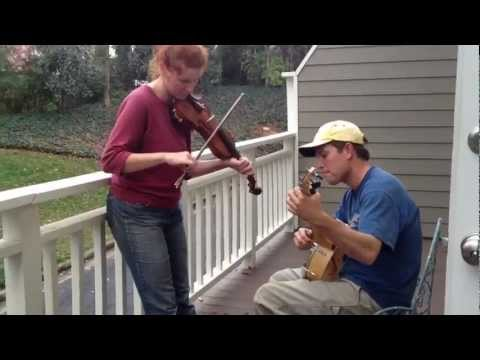 Mecca and Adam Lowe jam Sally Ann on the back porch - a Sunday in December