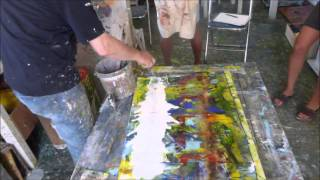 action painting - adhesion activity