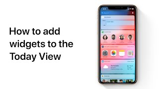 How to add widgets to the Today View on iPhone and iPad — Apple Support