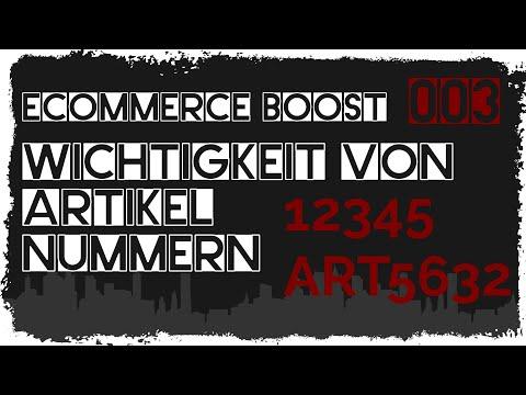 tricoma ecommerce #003 - Warum Artikelnummern so wichtig sind? - Shopsysteme, Verkaufsplattformen