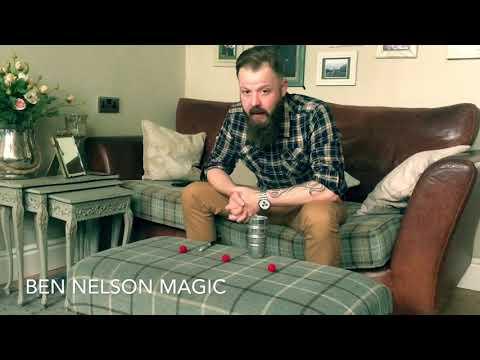 Ben Nelson magic cups and balls