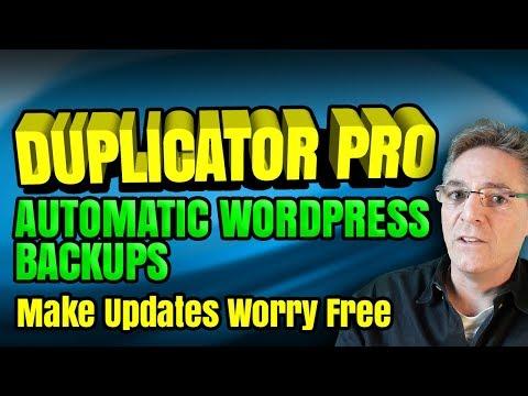 Duplicator Pro Plugin Tutorial - Back Up Your Site To Dropbox - Plugin Update Are Care Free