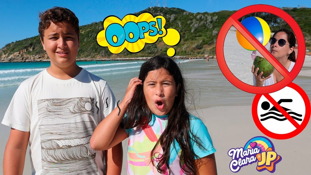 MARIA CLARA E JP APRENDEM AS REGRAS DE CONDUTA NA PRAIA -  Learn Rules of Conduct for Children