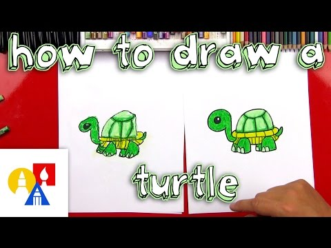 How To Draw A Cartoon Turtle