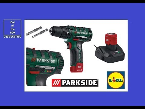 Parkside Cordless Drill PABS 12 B3 UNBOXING (Lidl 12V Lithium-Ion 2 speed)
