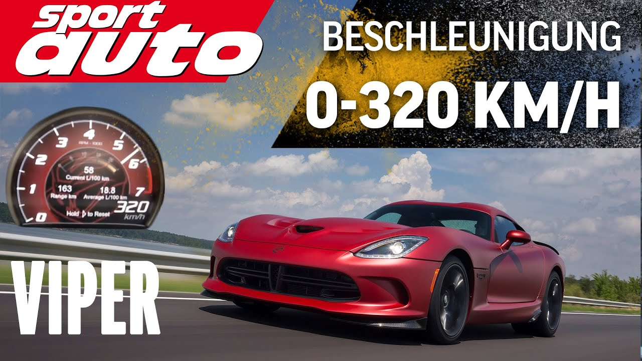 Srt Viper 320 Km H Acceleration Test Sport Auto Youtube