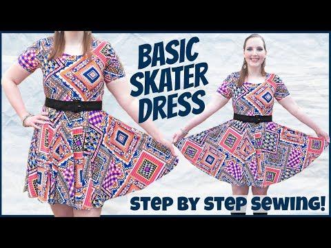 DIY Easy Stretch Fabric Skater Dress | No Zipper or Pattern Needed!