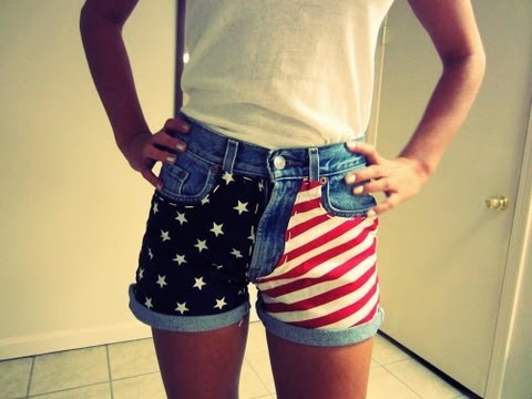 DIY: American Flag Shorts (Using Fabric!)