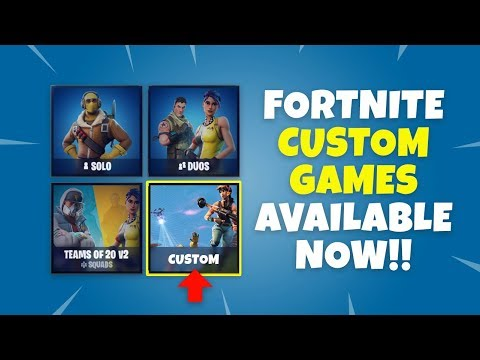 how to play a custom match in fortnite