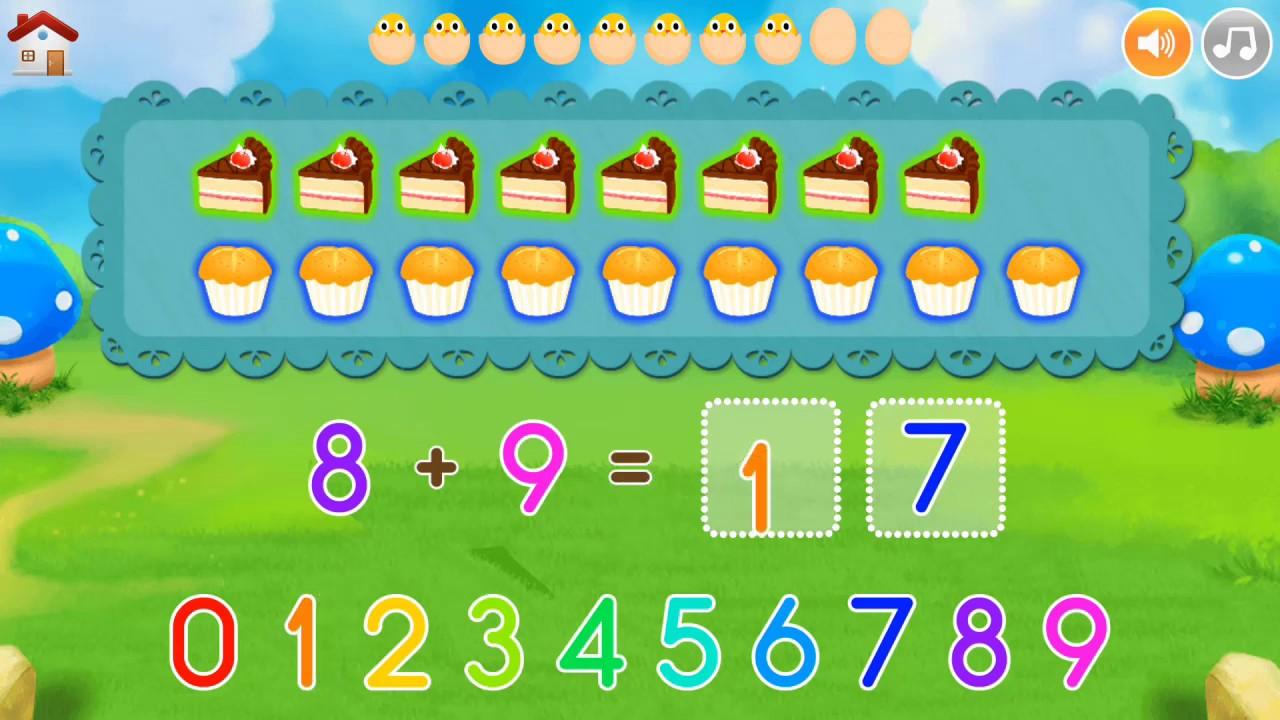 Bé học toán - Phép cộng || Phép cộng phạm vi 20 - Bài 1