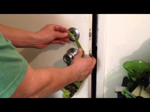 How To Lock A Door Without A Key Youtube