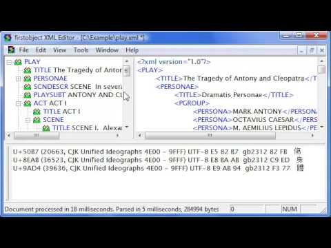 "firstobject free XML editor ""foxe"" programmable XML tool ..."
