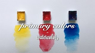 mixing watercolor - painting from primary colors
