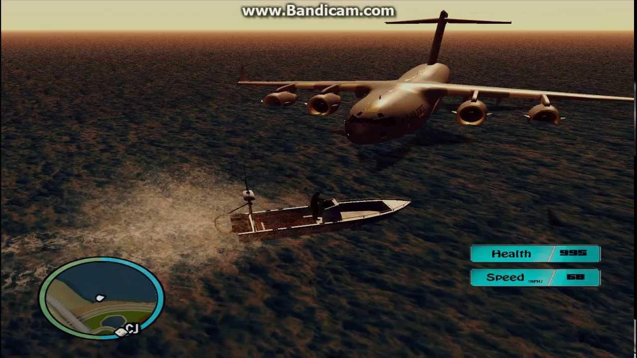 Gta sa usaf cargo plane landed on the sea of los for Gta sa plane interior mod