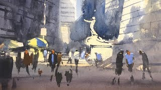 "Advancing with Watercolor: Working On Location NYC - ""Good Morning NYC"""