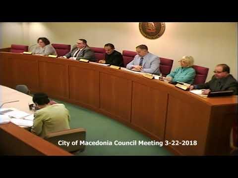 City of Macedonia Council Meeting 3-22-2018