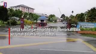 COVID 19  Hospital Sentosa di Sarawak ditutup