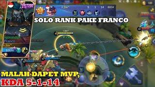 SOLO RANK FRANCO MVP, BEGINI CARA ROAM SAMA HOOKNYA!