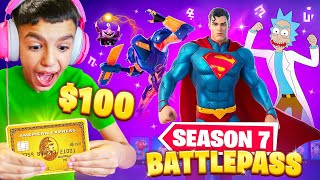 Surprising Little Brother With NEW Fortnite Season 7 MAX Battle Pass!