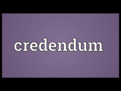Header of credendum