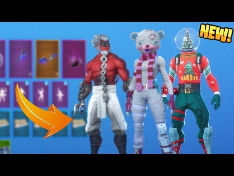 *NEW* All Leaked Fortnite Skins + Back Blings..! *CHRISTMAS* (Demon Illuminati, Snow Globe)